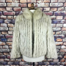 Woman's White Vintage Fur Coat/ Jacket  Mink size 14, JW Scott, Good Condition !