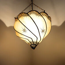 Orientalische Lampe Marokkanische Hennalampe Deckenleuchte Lederlampe LHLT-N