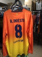 Nike 2012 2013 Iniesta  XL L/S FC Barcelona Away Shirt Jersey Camiseta Kit NWT