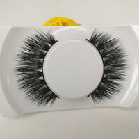 New Black Luxurious Real Mink Long Natural Thick Eye Lashes False Eyelashes-014