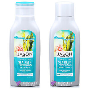 JASON ORGANIC SEA KELP SHAMPOO & CONDITIONER 480ml-No Parabens / Phthalates