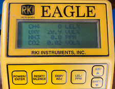 RKI Eagle 1-6 Gas Sample Draw Monitor O2 CH4 NH3 CO2