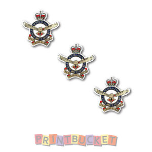 RAAF Airforce badge sticker 40mm 3 pack quality water/fade proof vinyl military