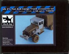 Blackdog Models 1/48 2-1/2 TON 6x6 CARGO TRUCK ACCESSORIES SET Resin Detail Set