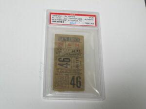 July 17, 1949 New York Giants vs St. Louis Cardinals Ticket PSA Cert Encap Stub
