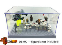 Grey lego Star wars friends city display case mini figure sets 75099 75136 75138