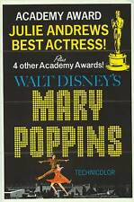 MARY POPPINS original 1964 27x41 one sheet movie poster JULIE ANDREWS
