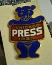 ORIGINAL VINTAGE 1935 CHICAGO CUBS WRIGLEY FIELD WORLD SERIES PRESS PIN