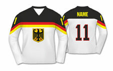 Team Germany Deutschland 2017 WHITE Ice Hockey Jersey Custom Name and Number