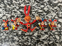 Lot of 5 Vintage 1980s Yo Noid Action Figures Dominos Pizza - Free Shipping