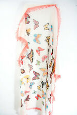 CREAM/BUTTERFLY GRAPHIC PRINT  INSPIRED UNIQUE EX HIGH STREET SCARF(MS21)