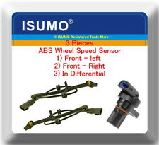 3 x ABS Wheel Speed Sensor Front L/R & In Different Fits: Ford Mazda Mercury 4WD