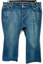 The flirt blue denim spandex stretch mid rise distressed wide leg jeans 22S