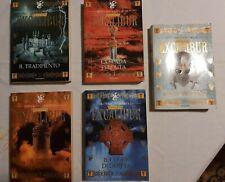5 Libri Excalibur Bernard Cornwell SERIE COMPLETA lotto Artu COME NUOVO