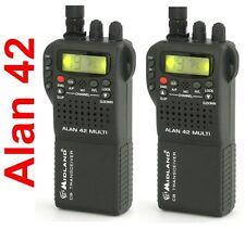 2 pz MIDLAND RADIO CB ALAN 42 MULTI BANDA RICETRASMITTENTE BARACCHINO PORTATILE