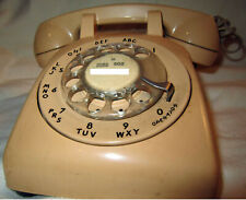 Vintage Bell System Western Electric Rotary Dial Telephone Beige/Tan Color 1970s