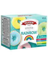 Queen Rainbow Food Colour 4 Pack 7ml