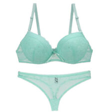 79f72cc62e74d 2PC Womens Lady Crystal Lace Floral Push Up Gather Bra Briefs Set Underwear