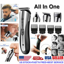 USA BIG SALE Rechargeable Electric Men Hair Clippers Trimmer Barber Haircut Kit