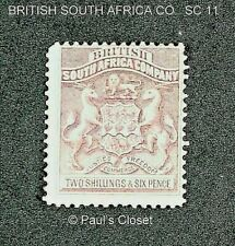 BRITISH SOUTH AFRICA CO 1890 2sh6p MINT LIGHTLY HINGED OG VERY FINE