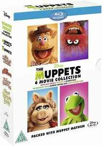 """THE MUPPETS COMPLETE COLLECTION 1-6 BOX SET 5 DISCS BLU-RAY RB AUS """"NEW&SEALED"""""""