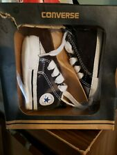 Converse All Star Baby Infant Crib Shoes Black & White Unisex Size 1
