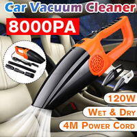 12V 120W Handheld Car Vacuum Cleaner Rechargeable Portable Mini For Home Wet