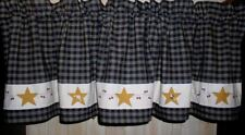 Stars and Vines Valance Tiers Runners Country Primitive Curtains Fabric Choices