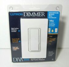 Lutron Dimmer Diva Duo 3-Way White DVW-603PH-WH 600 Watts Electrical Switch