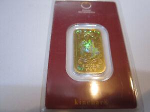 Goldbarren 10g Gramm kinebar Hologramm Pferd Reiter Zertifikat im Blister