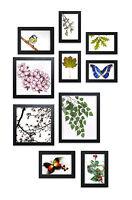 Premium Bilderrahmen Set 10-tlg, 4 Größen, Rahmen Bilder-Galerie Collage schwarz