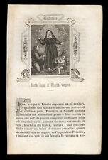 santino incisione 1800 S.ROSA DA VITERBO
