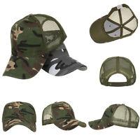 Men Women Camouflage Baseball Cap Military Army Camo Hat Trucker Snapback NR7