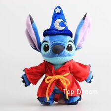 Cartoon Lilo & Stitch Wizard Magician Stitch Plush Toy Soft Stuffed Doll 10''