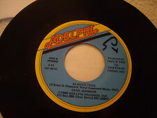 "GENE JOHNSON - Always True / Lonely Girl - 7"" Adelphi Records 1980"