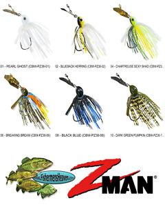 Z-MAN Chatterbait Project Z Weedless 3/8oz (CBW-PZ38) Any 6 Colors Swim Jig