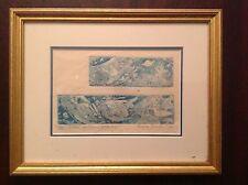 DONNA LOCATI framed intaglio print 1992 UNDER AUTUMN STARLIGHT number 86 of 137