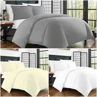 Luxury Bedding 400 Thread Count Duvet Quilt Cover Set /Fitted Sheet Pillow Cases