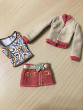 Barbie My Scene Day & Nite Chelsea Outfit Butterfly Cords Corduroy Skirt Jacket