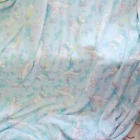 Cinnamoroll Cute Dog Light Blue Flannel Blanket Pillowcase Soft Bed Sheet Gifts