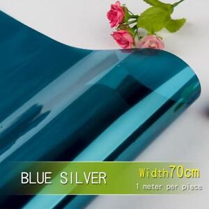 Mirror Window Film Heat Insulation Self Adhesive Simple Pure Color Tinted Decors
