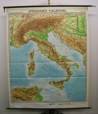 Schulwandkarte muro mapa italia italia hermosas Alpes mapa Sardinia 154x193 1970