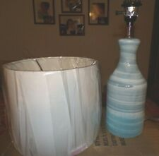 POTTERY BARN MELROSE TABLE LAMP, NEW, BLUE SWIRL, 20""