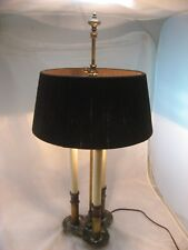 STIFFEL TABLE LAMP VINTAGE BRASS 3-WAY CANDLE LIGHT FRENCH BOUILLOTTE RARE SHADE