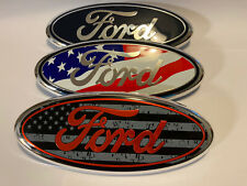 """F-150 Emblem 9"""" Oval Tailgate Grille Badge Fits Ford F-150"""