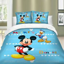 Mickey Mouse Duvet Cover Set Twin/Full/Queen/King Size Bedding Set Blue