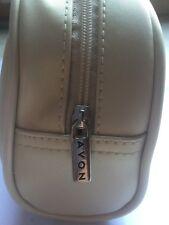BNWOT Avon Toiletries/Cosmetic Bag Small Ivory/Cream FREE P&P