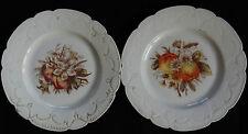 2 assiettes anciennes en PORCELAINE DE LIMOGES (très bon état)