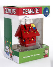 2015 HALLMARK PEANUTS 50TH YEAR SNOOPY ACE - CHARLIE BROWN ORNAMENT IN MINT BOX
