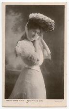 c 1907 Edwardian actress PHYLLIS DARE British photo postcard